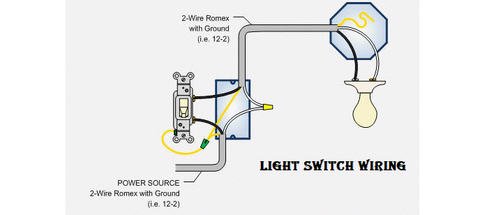 light switch wiring diagram – electrical engineering 123